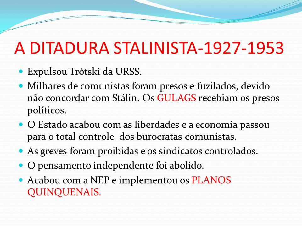 A DITADURA STALINISTA-1927-1953