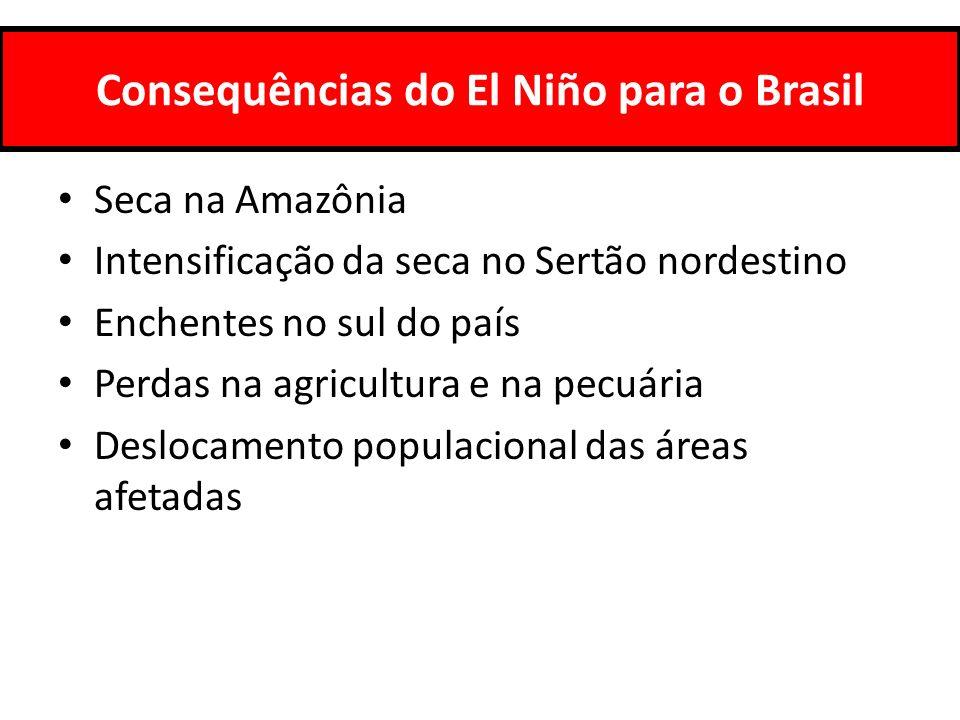 Consequências do El Niño para o Brasil