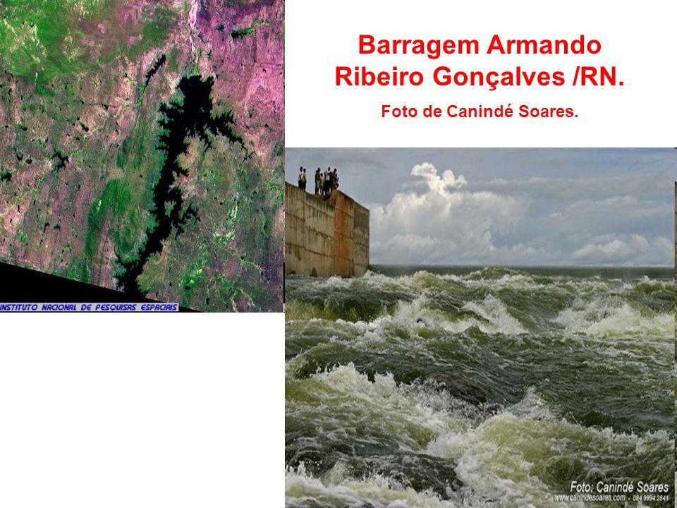 Barragem Armando Ribeiro Gonçalves /RN. Foto de Canindé Soares.