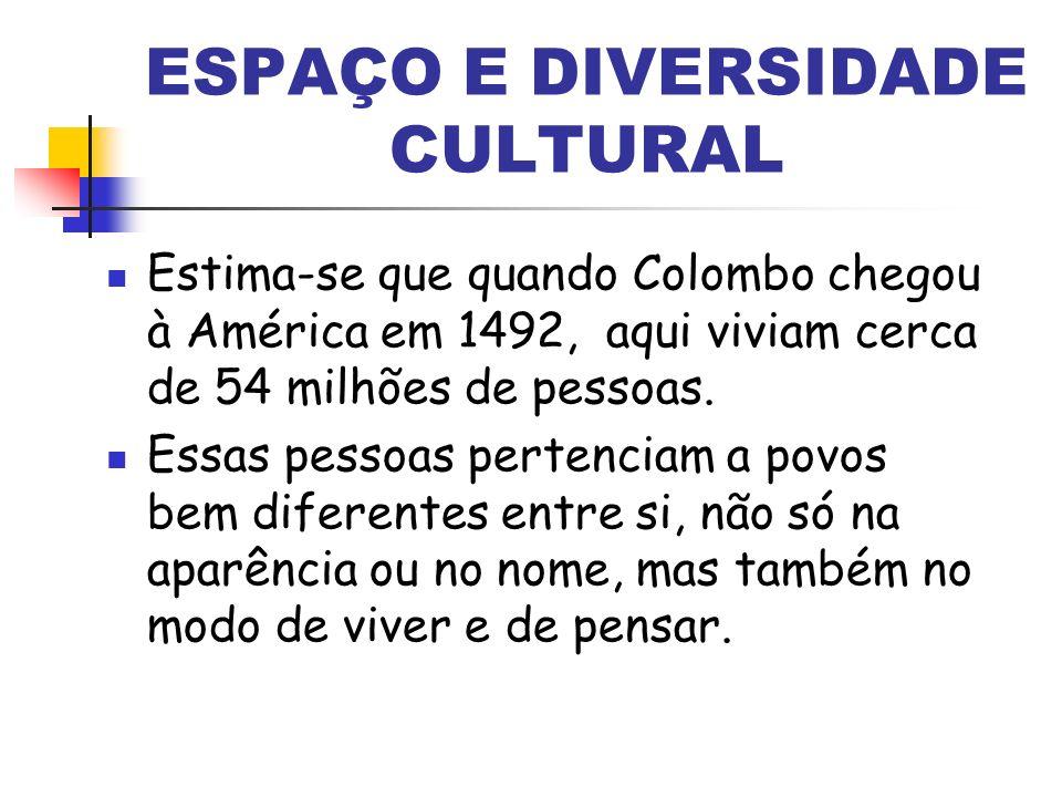 ESPAÇO E DIVERSIDADE CULTURAL