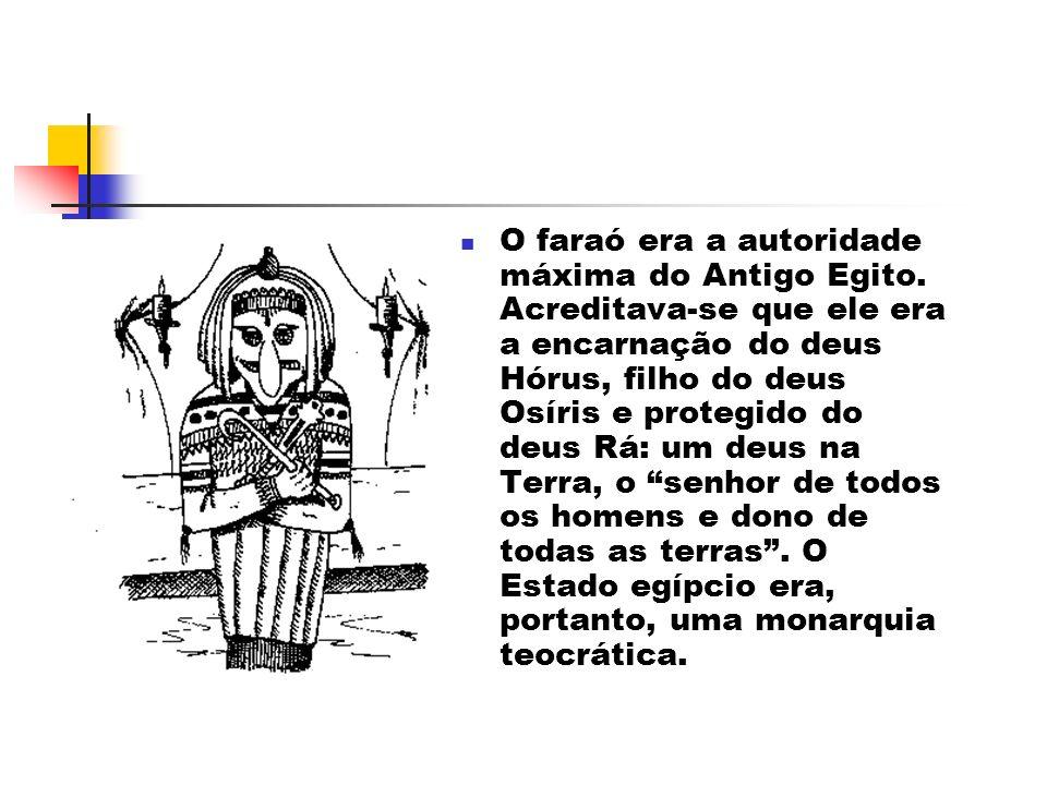 O faraó era a autoridade máxima do Antigo Egito