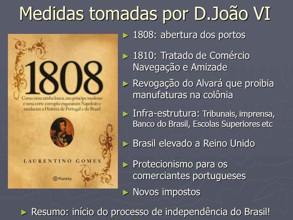 Medidas tomadas por D.João VI