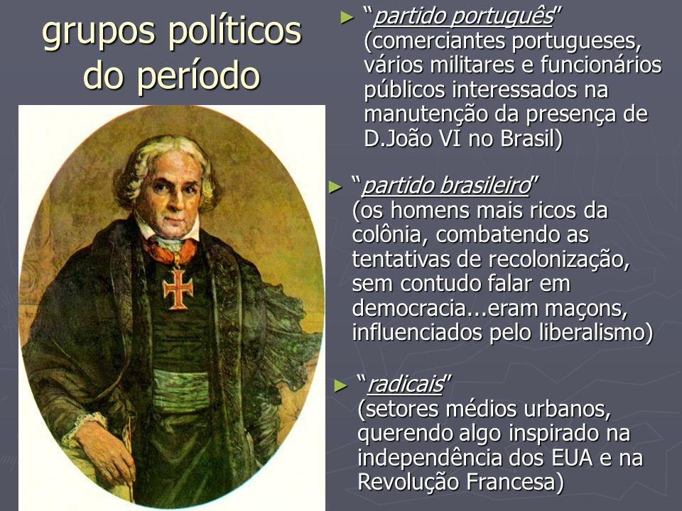 grupos políticos do período