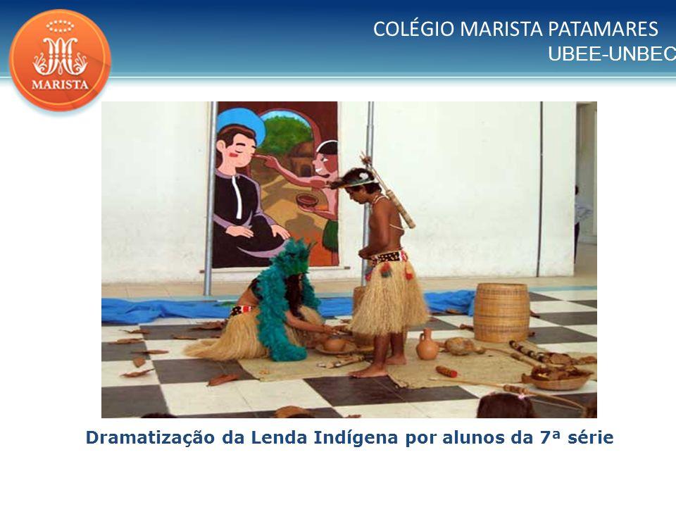 Dramatização da Lenda Indígena por alunos da 7ª série