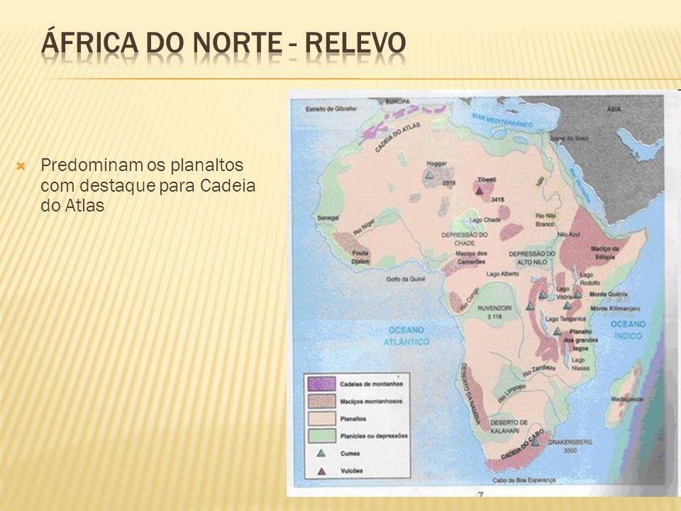 África do norte - RELEVO