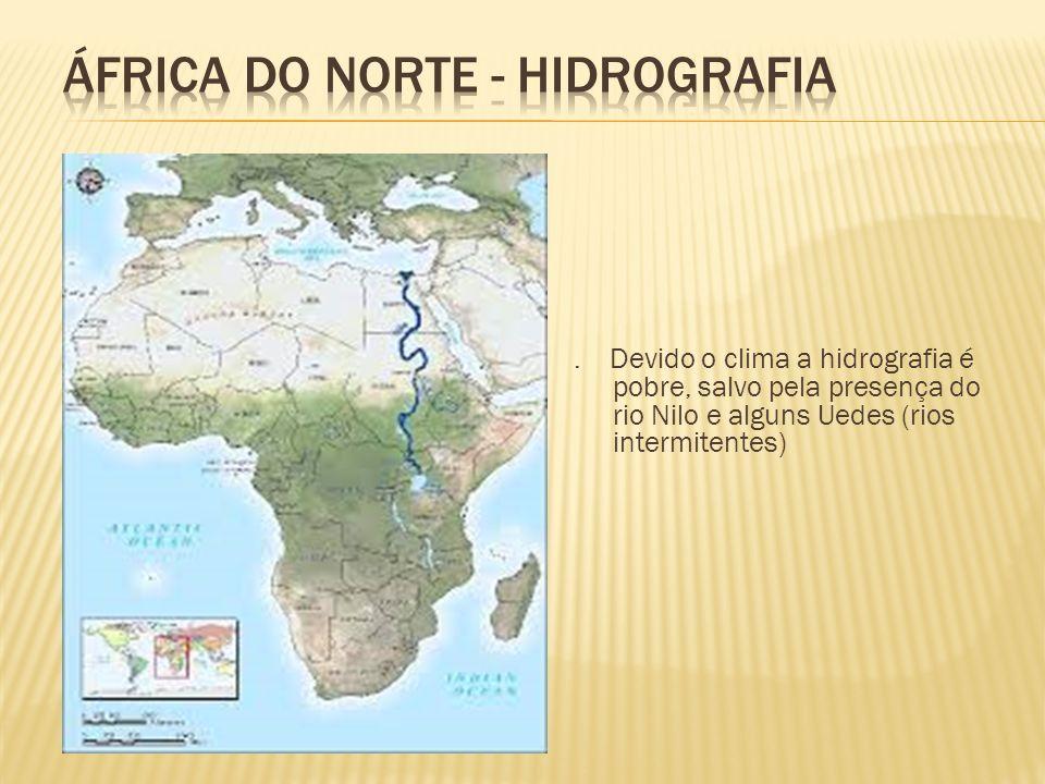 África do norte - HIDROGRAFIA