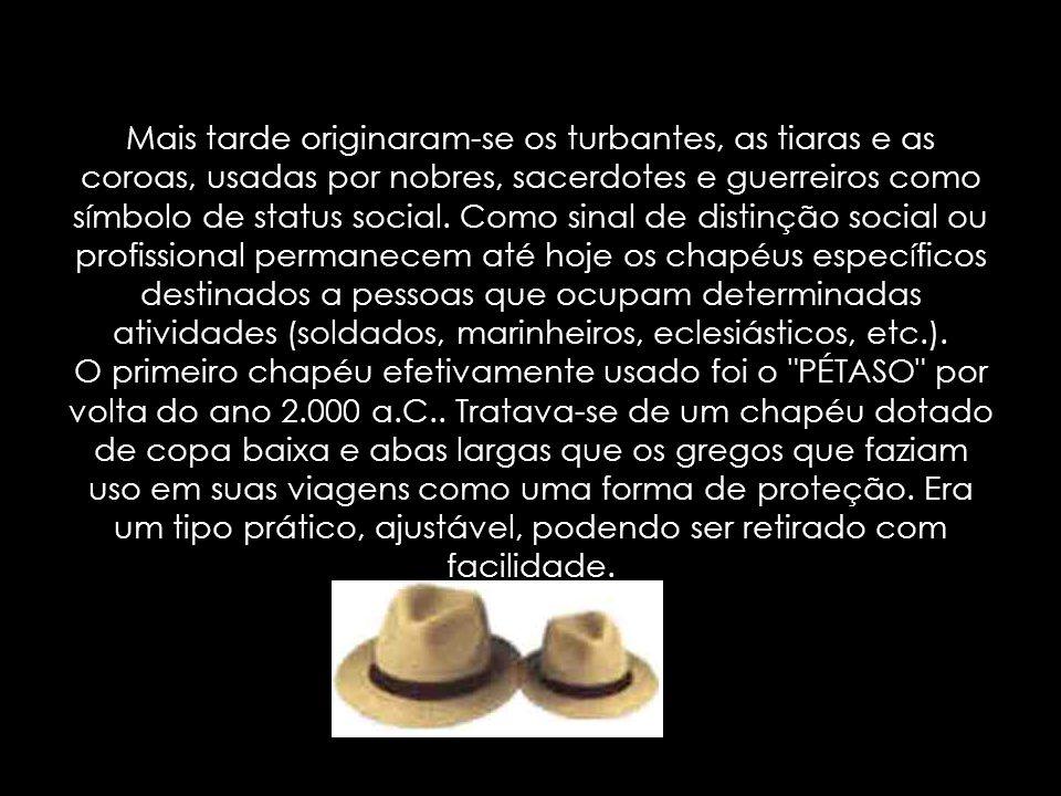 A palavra CHAPÉU provém do latim antigo cappa , capucho que significa peça usada para cobrir a cabeça.