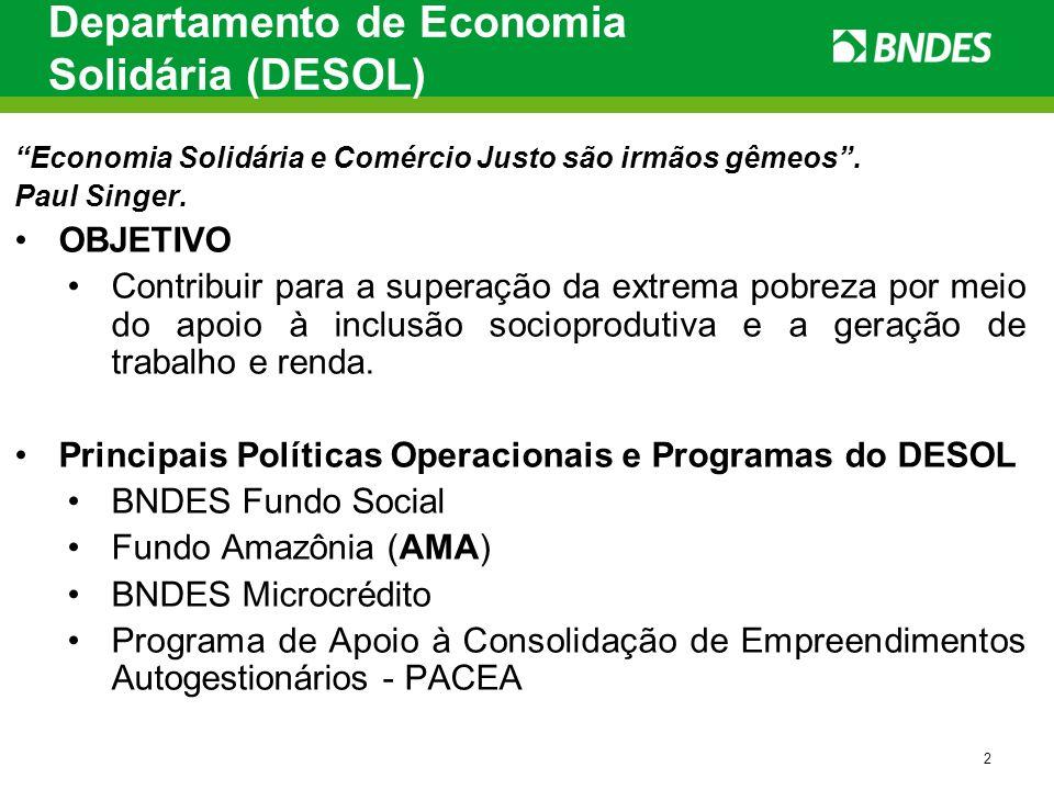 Departamento de Economia Solidária (DESOL)