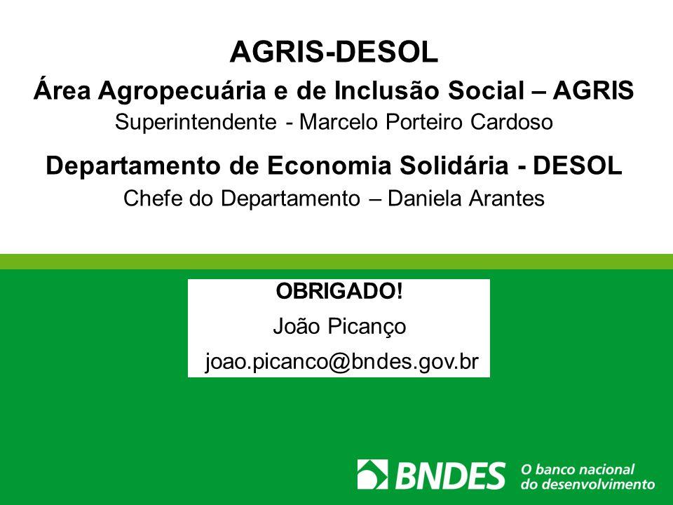 AGRIS-DESOL Área Agropecuária e de Inclusão Social – AGRIS