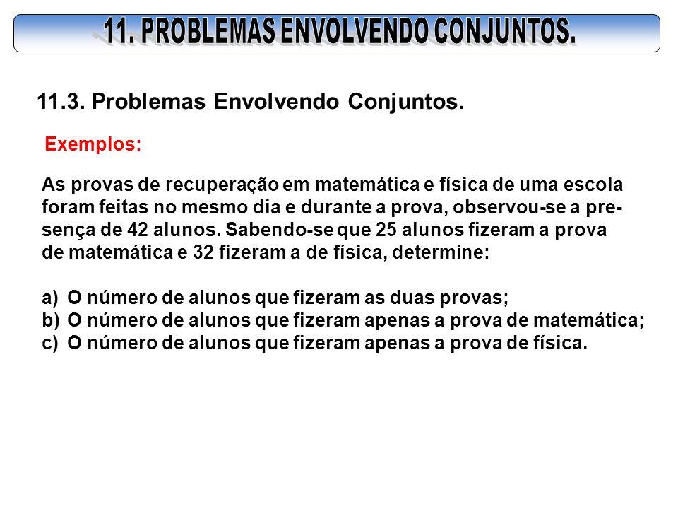 11. PROBLEMAS ENVOLVENDO CONJUNTOS.