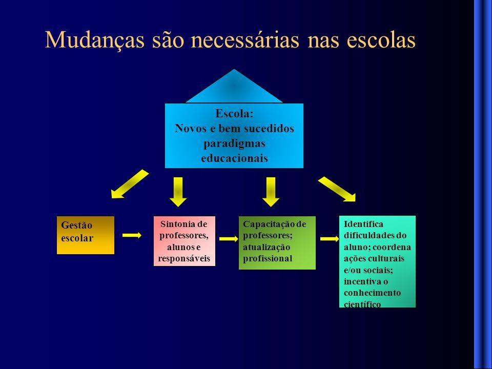 Novos e bem sucedidos paradigmas educacionais