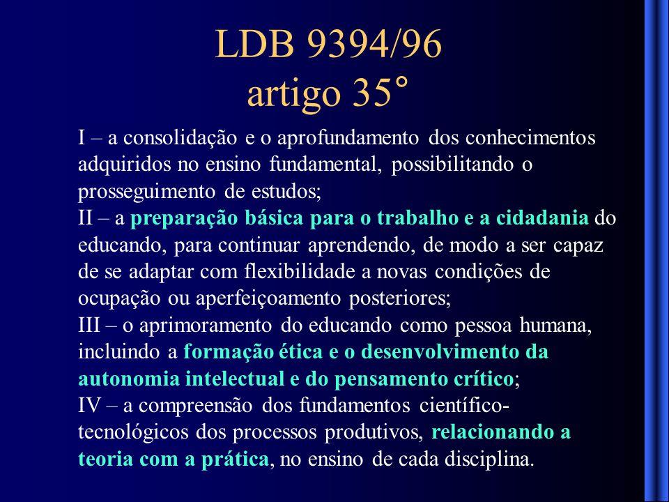 LDB 9394/96 artigo 35°
