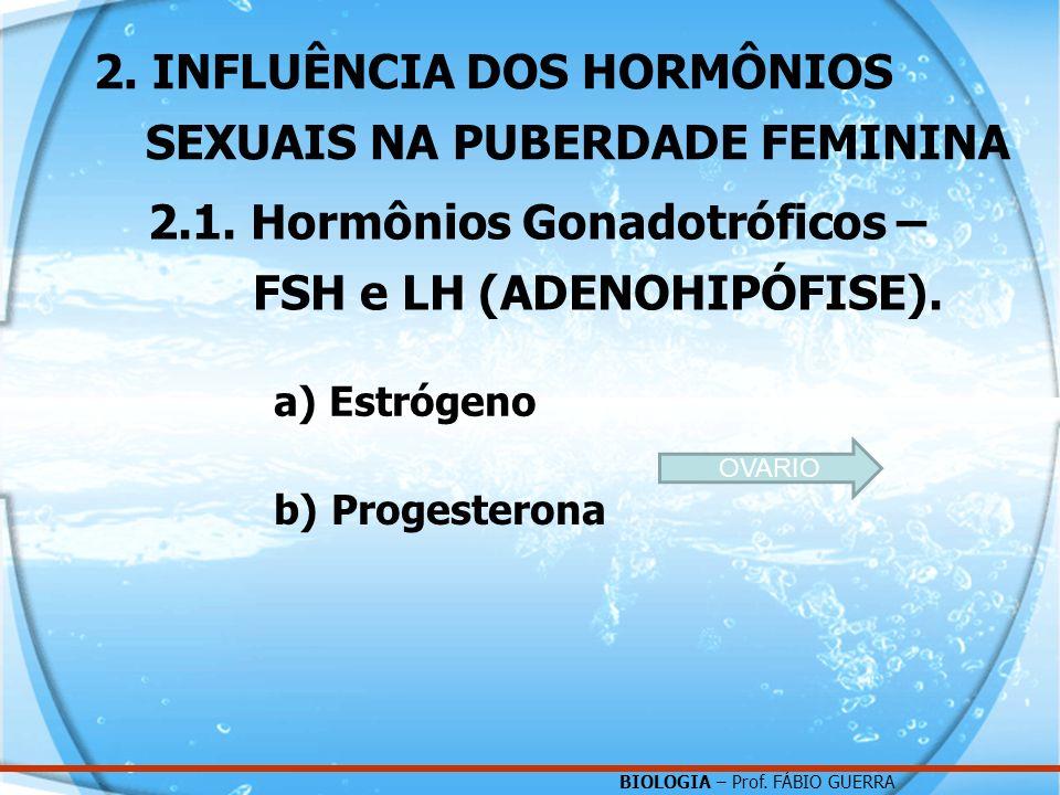 2. INFLUÊNCIA DOS HORMÔNIOS SEXUAIS NA PUBERDADE FEMININA