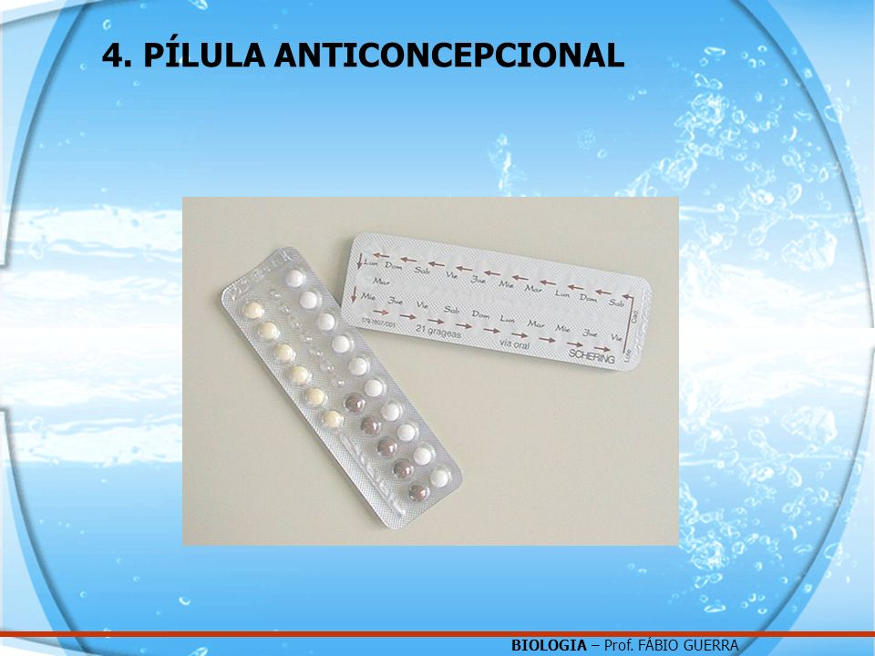 4. PÍLULA ANTICONCEPCIONAL