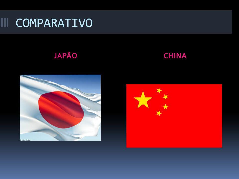 COMPARATIVO JAPÃO CHINA