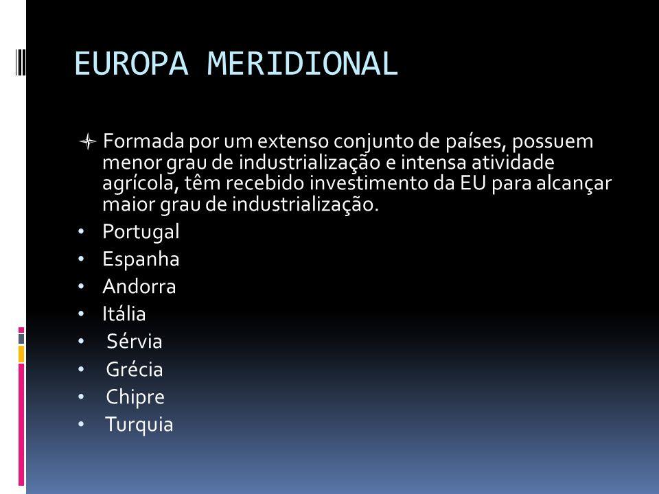 EUROPA MERIDIONAL Portugal Espanha Andorra Itália Sérvia Grécia Chipre