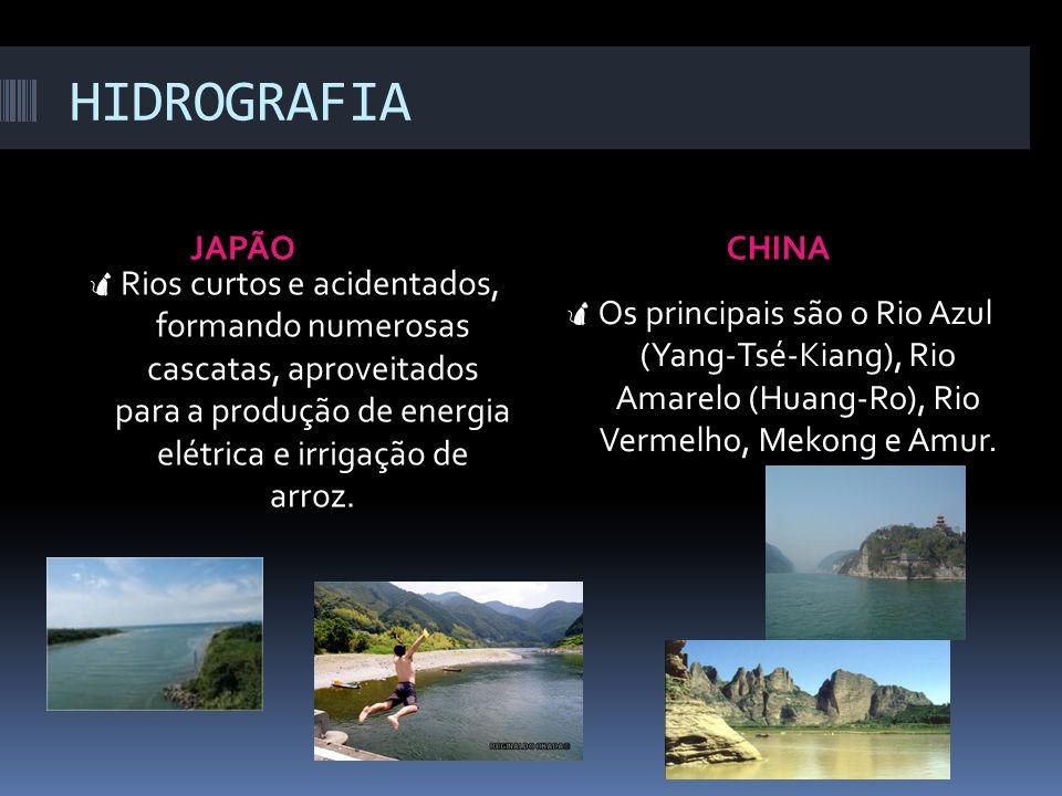 HIDROGRAFIA JAPÃO CHINA