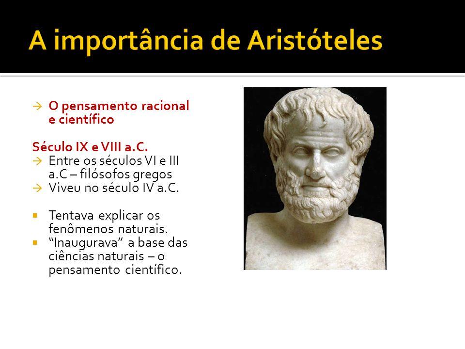 A importância de Aristóteles