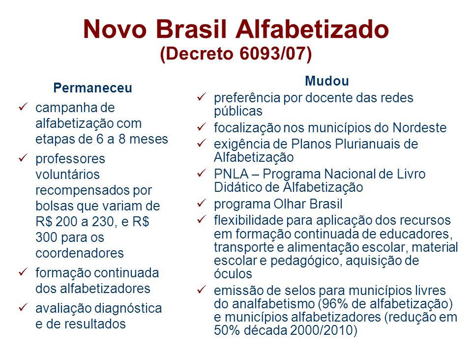Novo Brasil Alfabetizado (Decreto 6093/07)