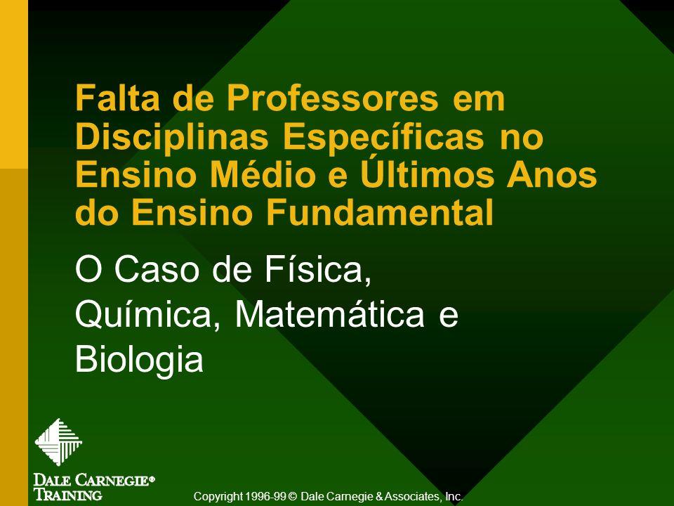 O Caso de Física, Química, Matemática e Biologia