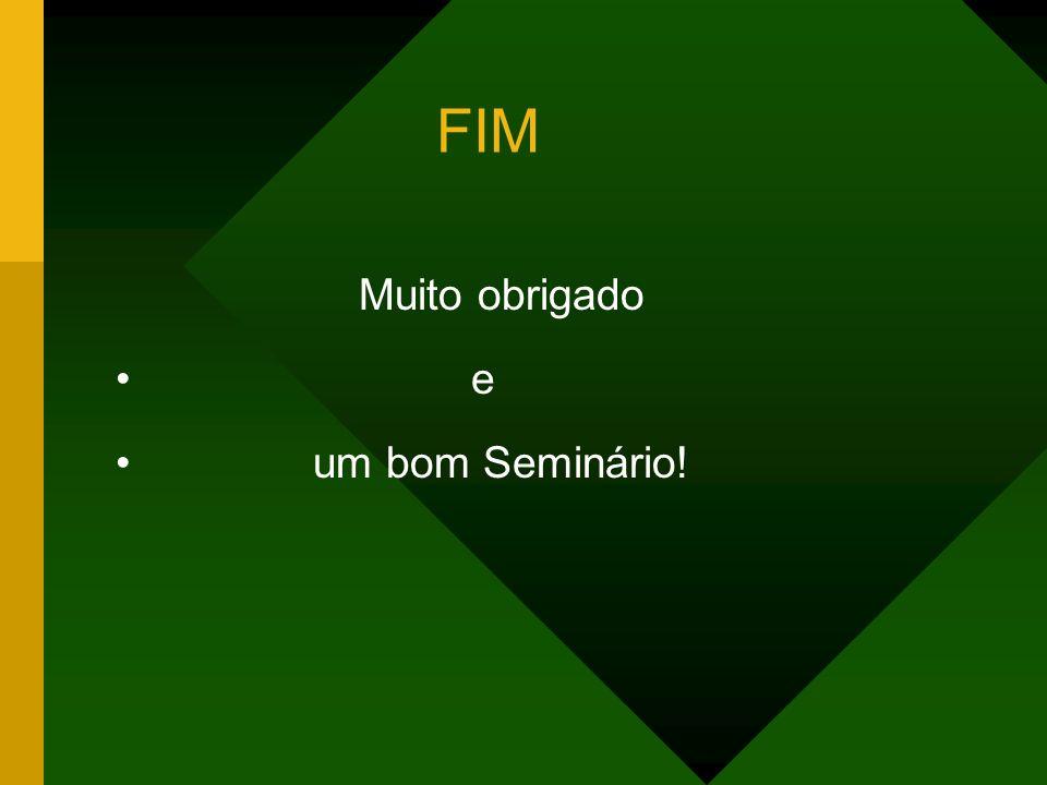 FIM Muito obrigado e um bom Seminário!