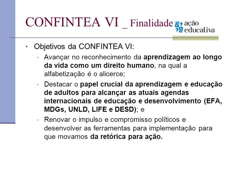CONFINTEA VI _ Finalidade