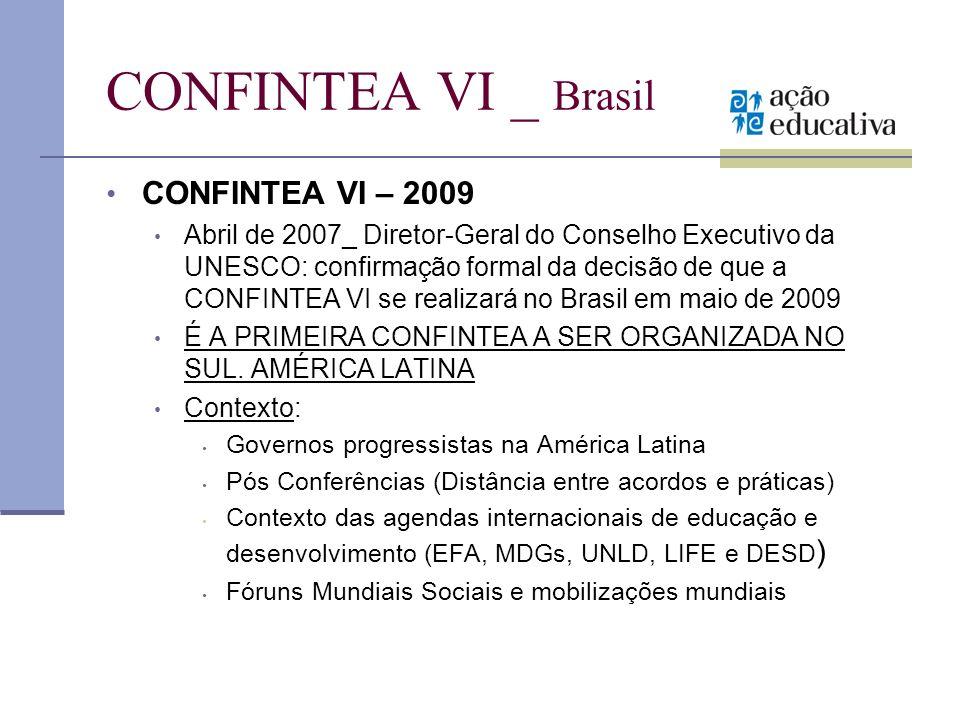 CONFINTEA VI _ Brasil CONFINTEA VI – 2009