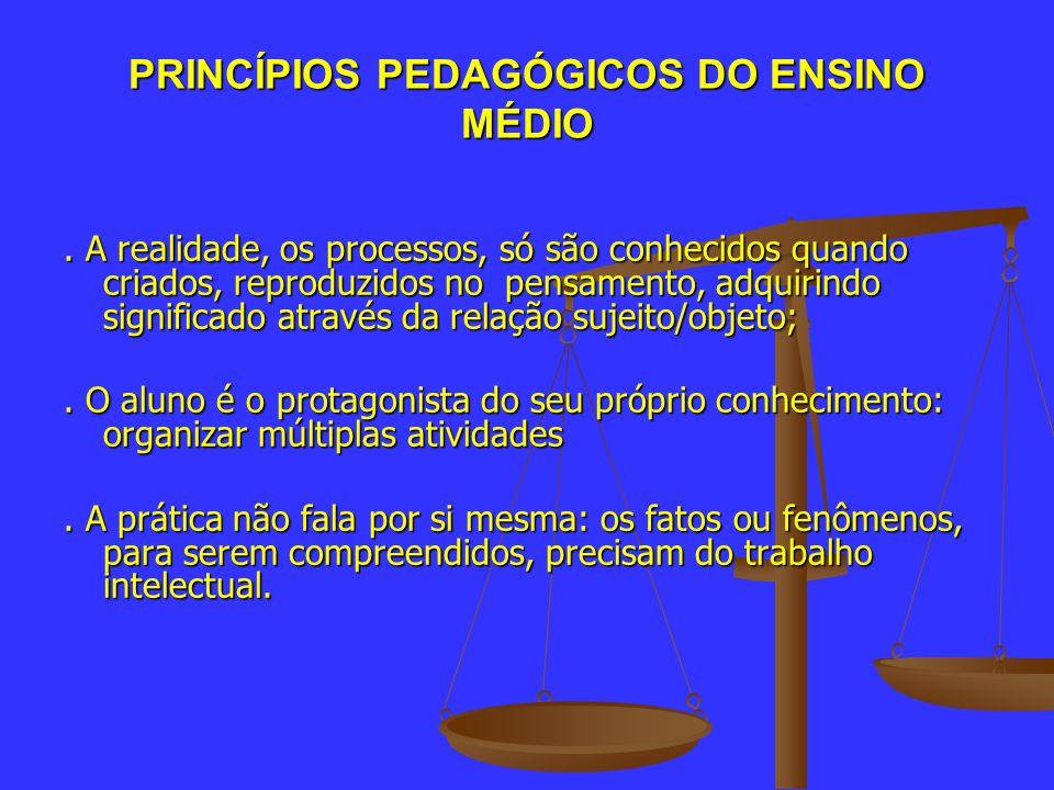 PRINCÍPIOS PEDAGÓGICOS DO ENSINO MÉDIO
