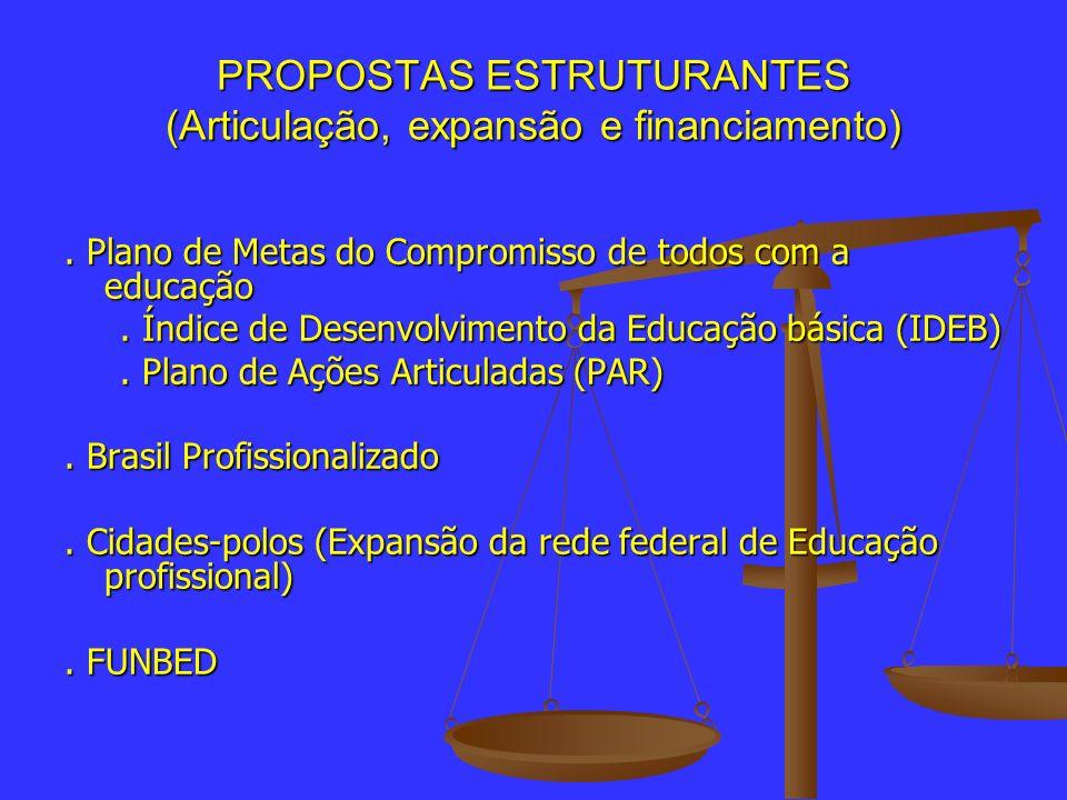 PROPOSTAS ESTRUTURANTES (Articulação, expansão e financiamento)