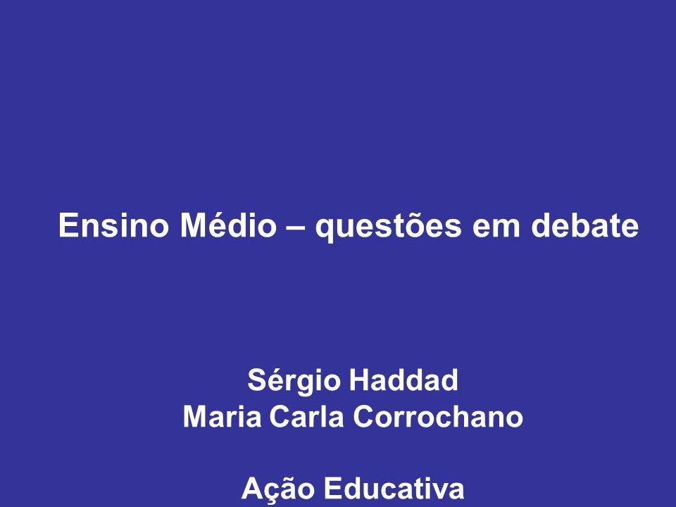 Ensino Médio – questões em debate Maria Carla Corrochano