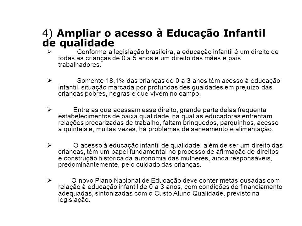 4) Ampliar o acesso à Educação Infantil de qualidade