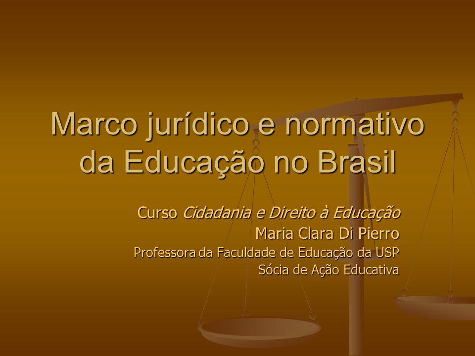 Marco jurídico e normativo da Educação no Brasil