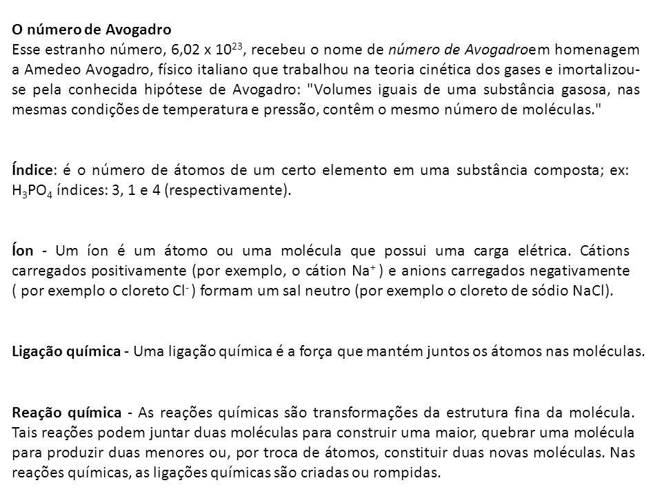 O número de Avogadro