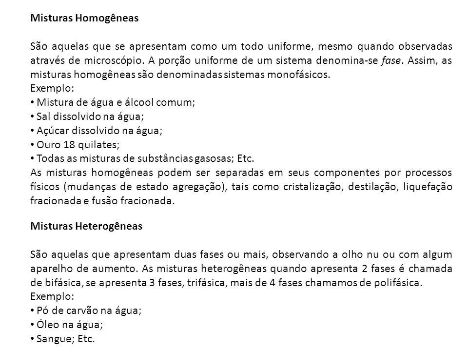 Misturas Homogêneas
