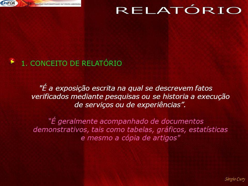 RELATÓRIO CONCEITO DE RELATÓRIO
