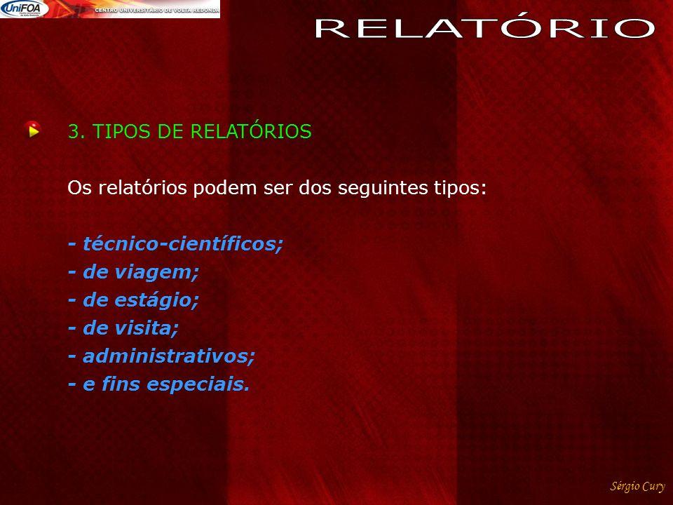 RELATÓRIO 3. TIPOS DE RELATÓRIOS