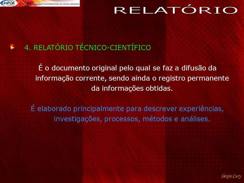 RELATÓRIO 4. RELATÓRIO TÉCNICO-CIENTÍFICO