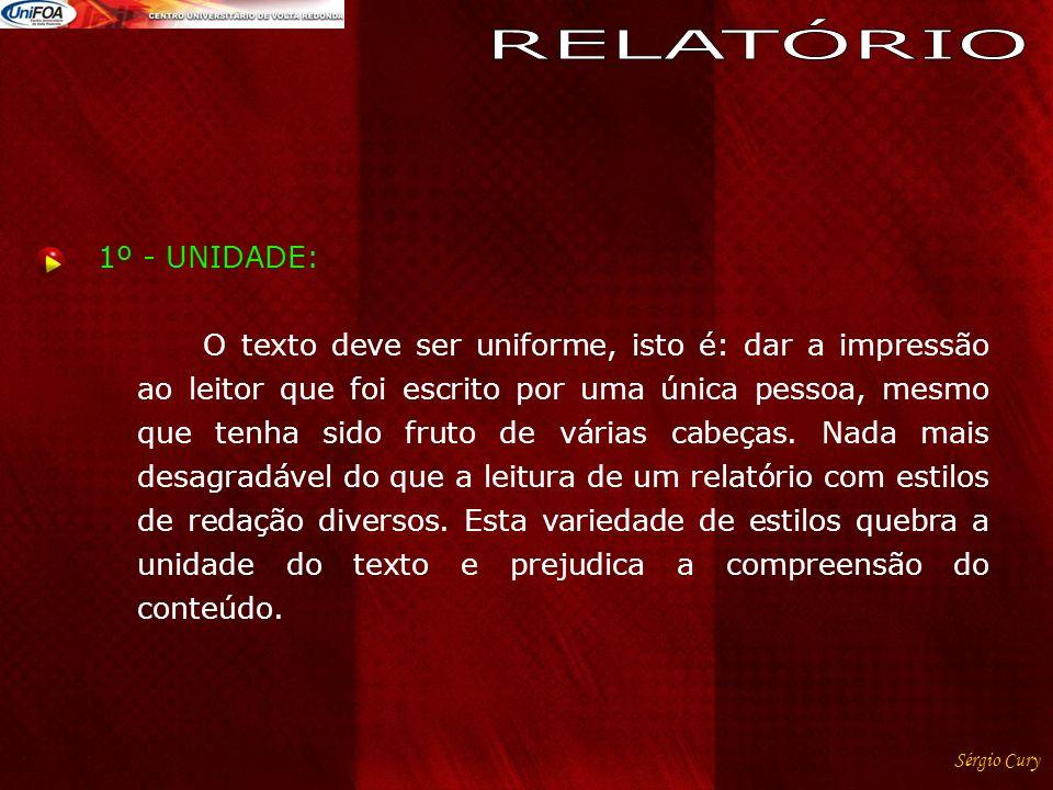 RELATÓRIO 1º - UNIDADE: