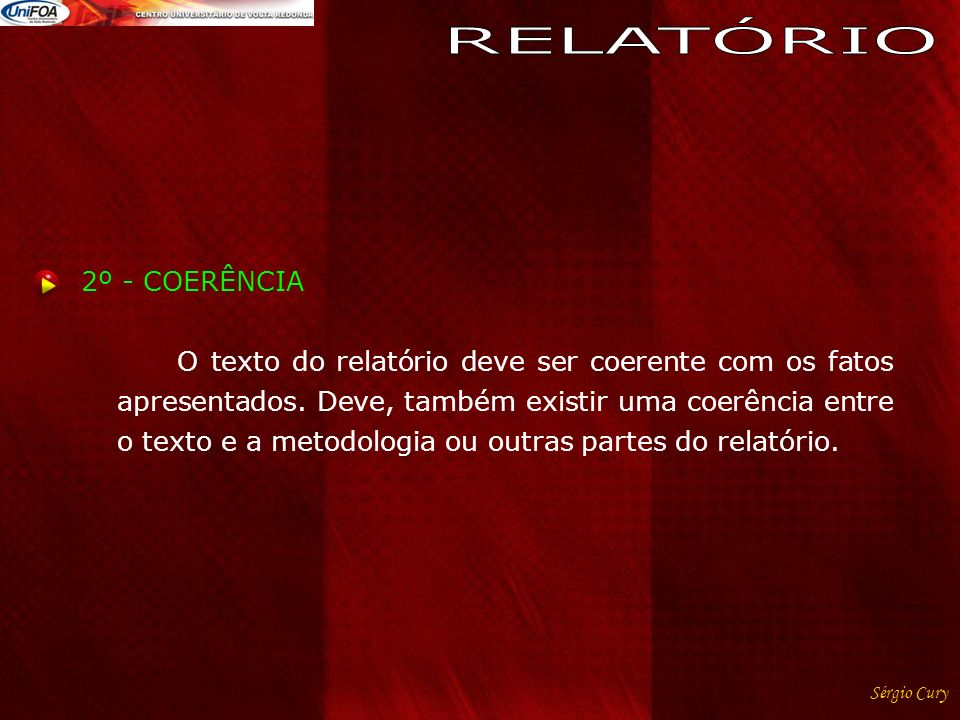 RELATÓRIO 2º - COERÊNCIA
