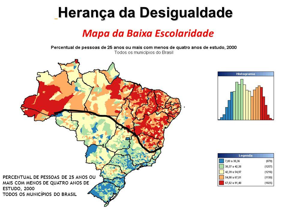 Mapa da Baixa Escolaridade