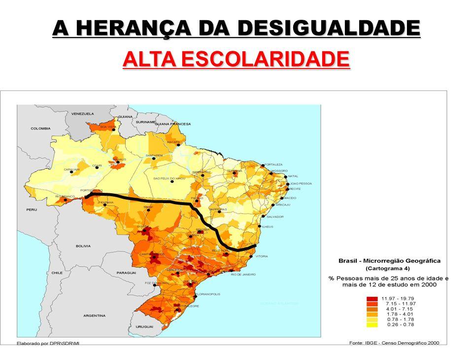A HERANÇA DA DESIGUALDADE ALTA ESCOLARIDADE
