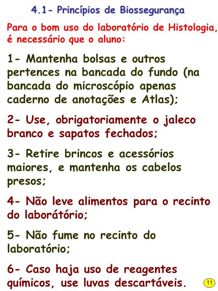 4.1- Princípios de Biossegurança