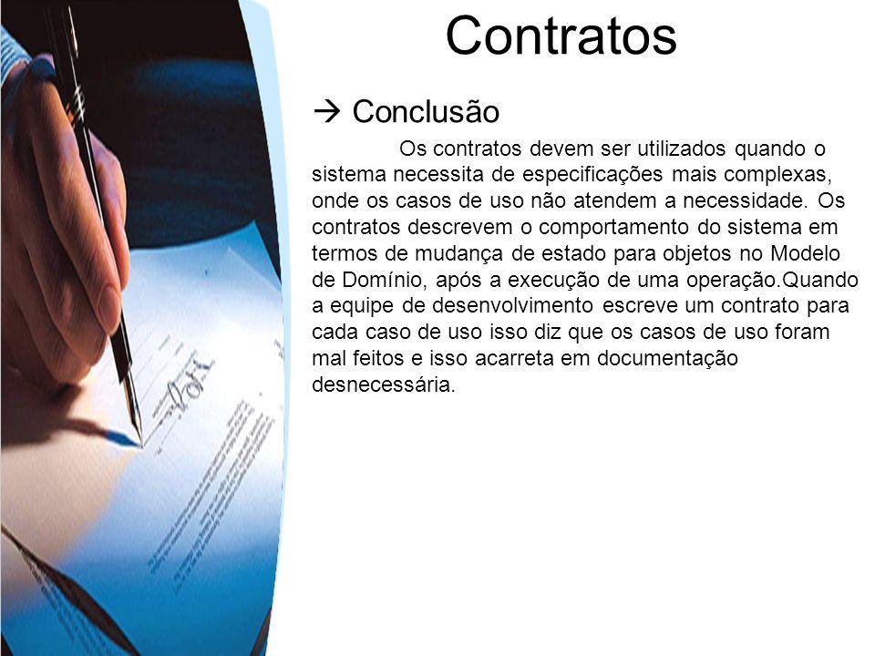 Contratos  Conclusão.