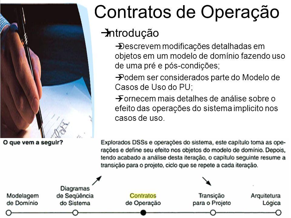 Contratos de Operação Introdução
