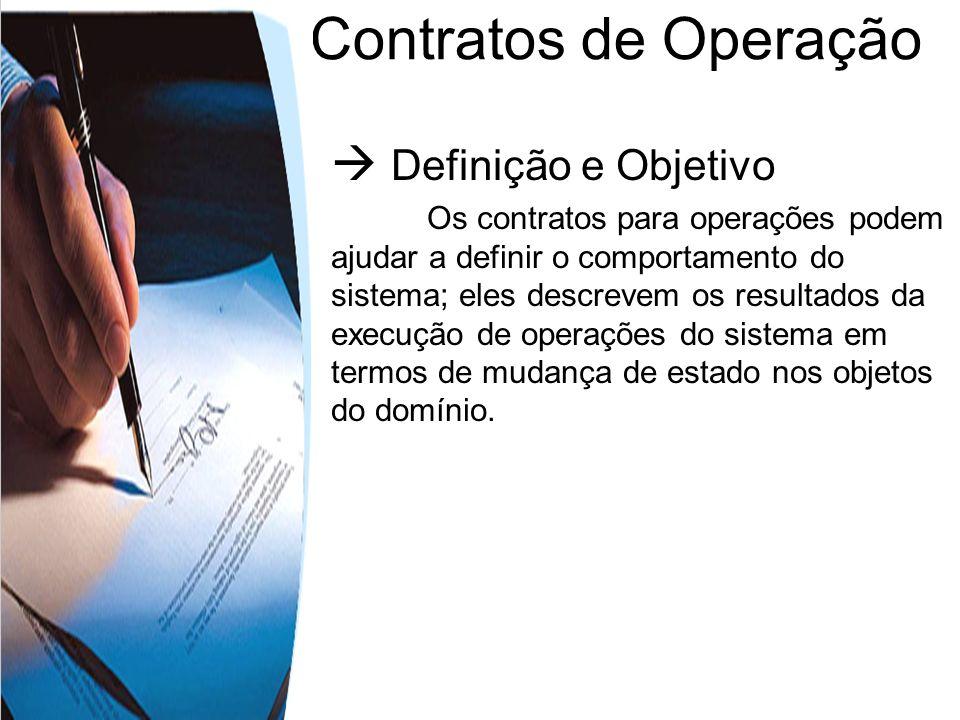 Contratos de Operação  Definição e Objetivo