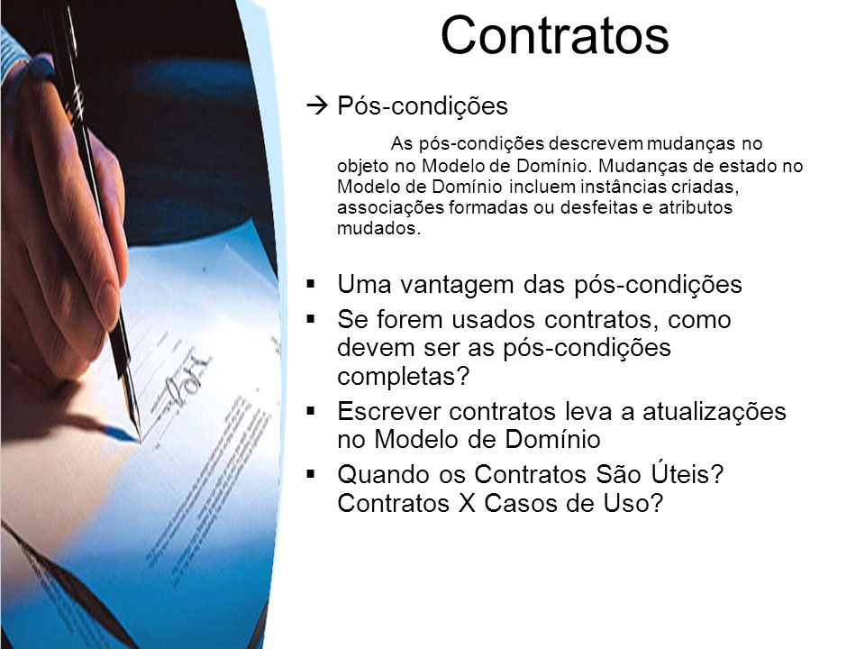 Contratos  Pós-condições