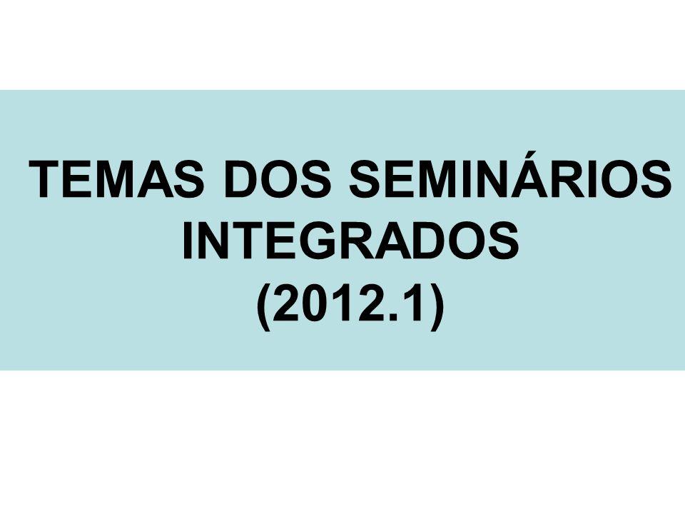 TEMAS DOS SEMINÁRIOS INTEGRADOS (2012.1)
