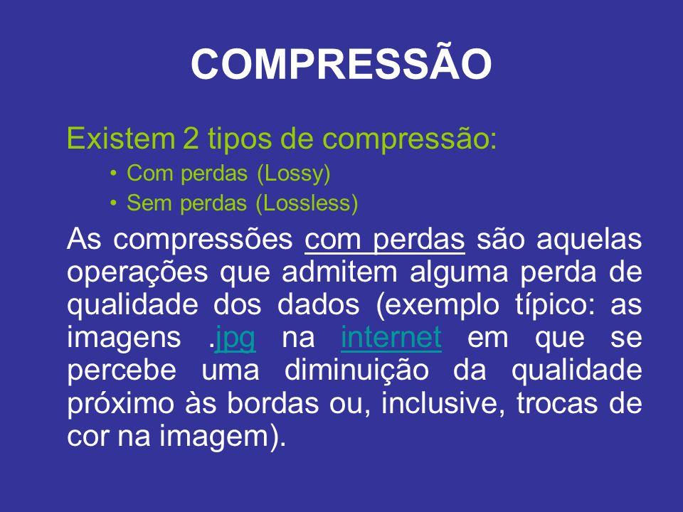 COMPRESSÃO Existem 2 tipos de compressão: