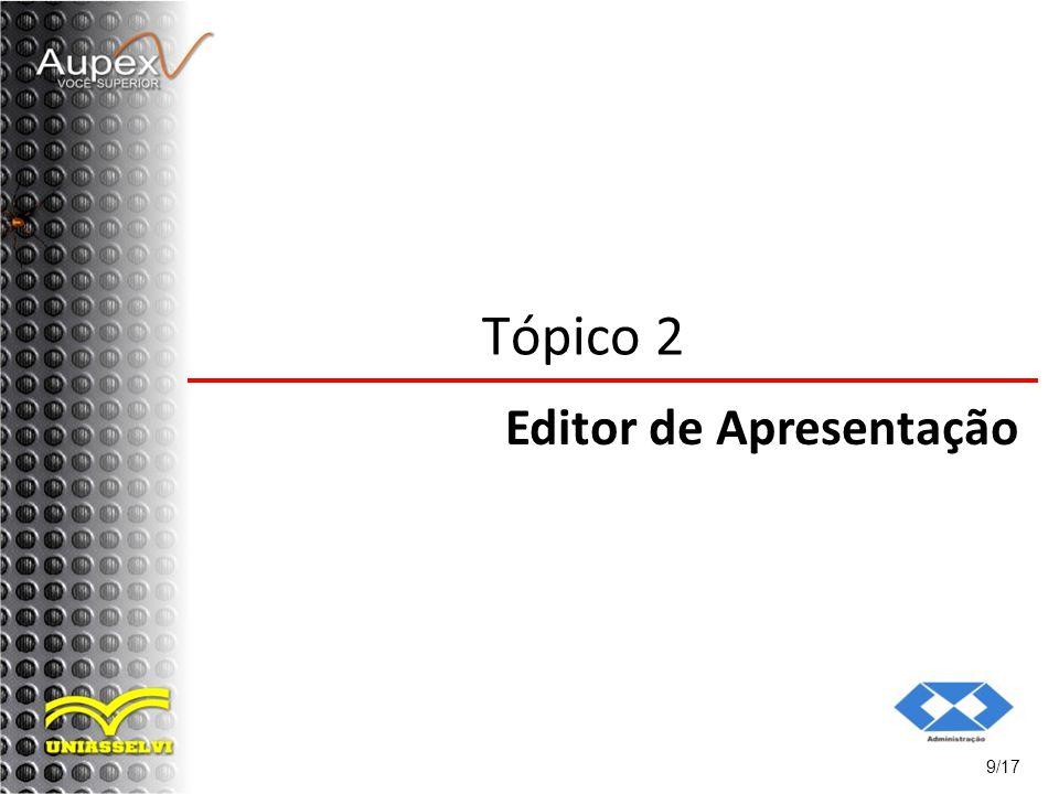 Tópico 2 Editor de Apresentação 9/17