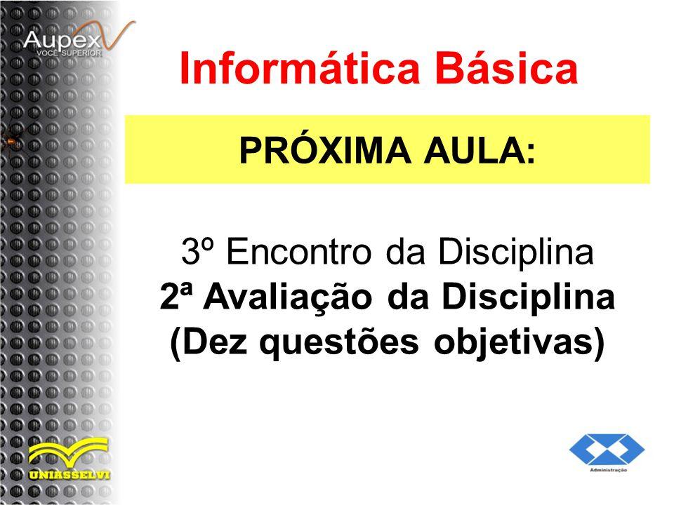 Informática Básica PRÓXIMA AULA: